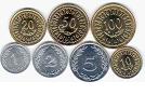 Les différentes pièces de monnaie tunisiennes