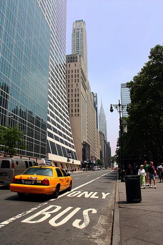 Prendre le taxi à New York