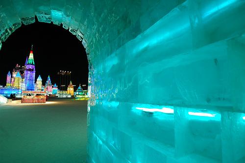 La cité des glaces de Harbin en vidéo